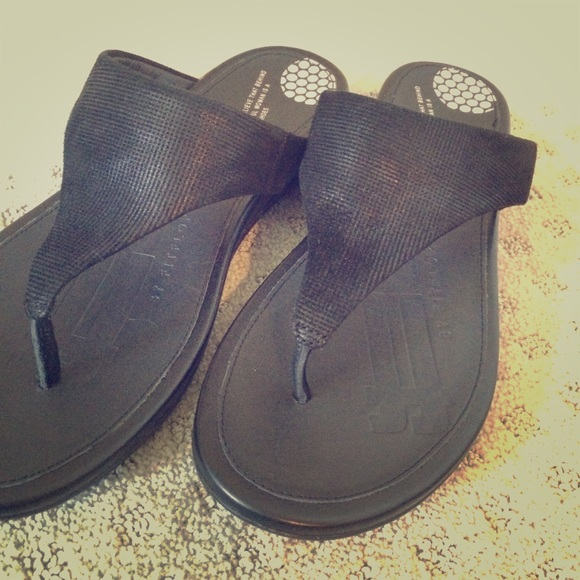 88c5ec45c Fitflop Ortho Sandals Black Opul Arch Support Flat